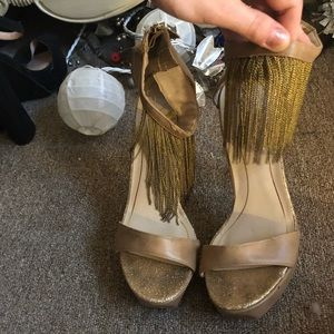 Gold VICTORIA SECRET gypsy heels